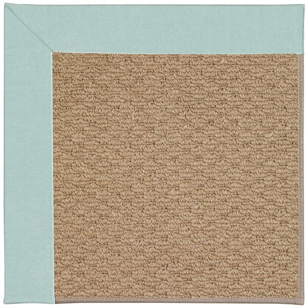 Lisle Machine Tufted Iceberg/Brown Indoor/Outdoor Area Rug by Longshore Tides