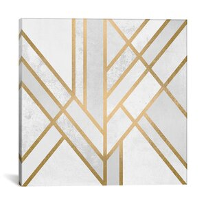 Art Deco Geometry II Graphic Art on Wrapped Canvas by Mercer41