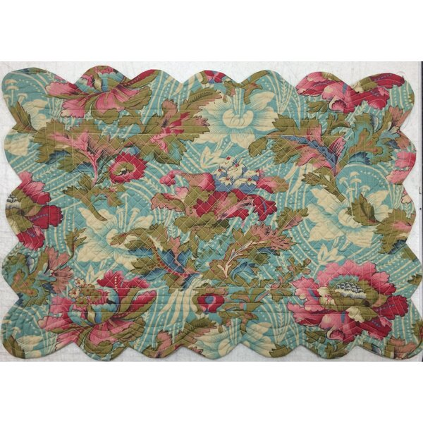 Peonies Reversible Placemat (Set of 6) by La Maisonnette