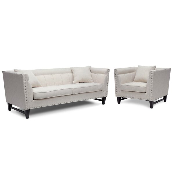 Wadley 2 Piece Living Room Set by Three Posts