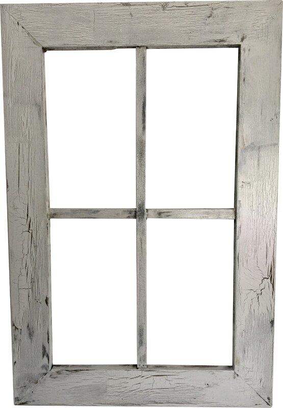 rustic wood window frame wall dcor - Wooden Window Frame