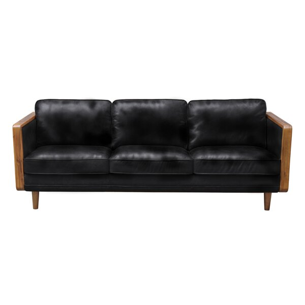 Aric Mandalay Oxford Leather Sofa by Corrigan Studio Corrigan Studio