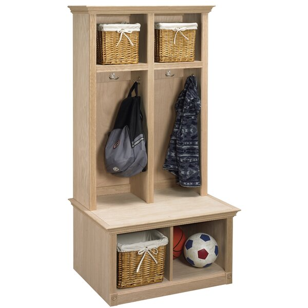 Regal 2 Piece Sit and Store Hall Tree Set by Arthur W. Brown