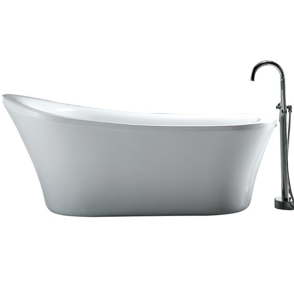 Rachel 70 x 34 Freestanding Acrylic Slipper Bathtub by Ove Decors