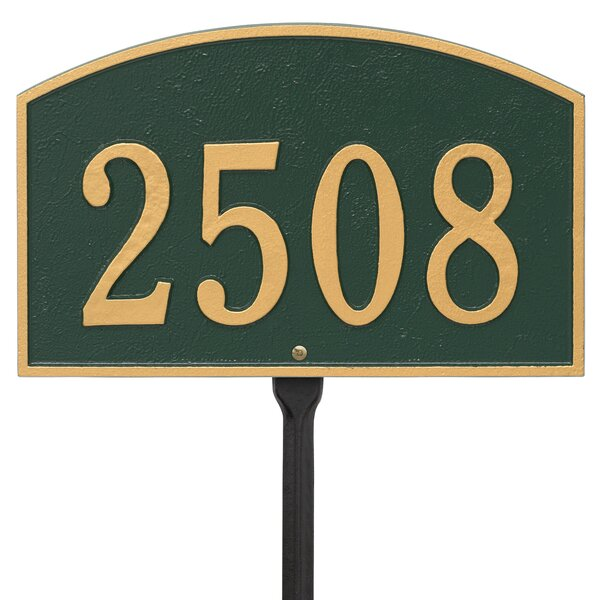 Legacy 1 Line Lawn Address Sign By Old Century Forge.