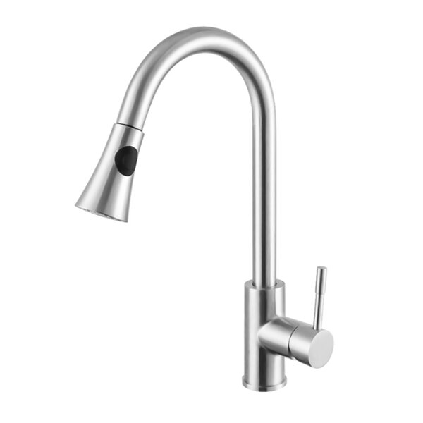 Single Handle Pull Out Kitchen Faucet by InFurniture