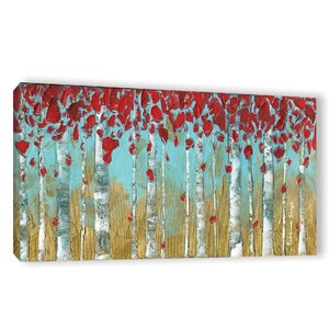Birch Painting Print Wrapped on Canvas by Latitude Run