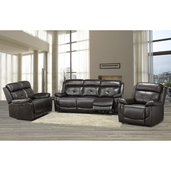 Lounsbury 3 Piece Reclining Living Room Set by Red Barrel Studio