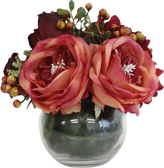 Roses/Mixed Floral Arrangement in Decorative Vase by Darby Home Co