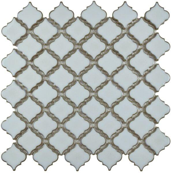 Pharsalia 12.38 x 12.5 Porcelain Mosaic Floor and Wall Tile in Silk White by EliteTile