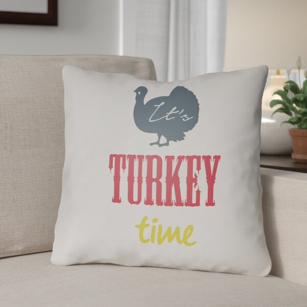 Turkey Indoor/Outdoor Throw Pillow by The Holiday Aisle