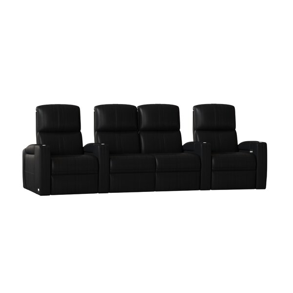 Flash HR Series Curved Home Theater Loveseat (Row Of 4) By Winston Porter