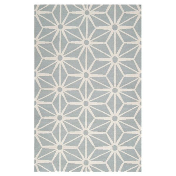 Oma Hand-Woven Cloud Blue Area Rug by Everly Quinn