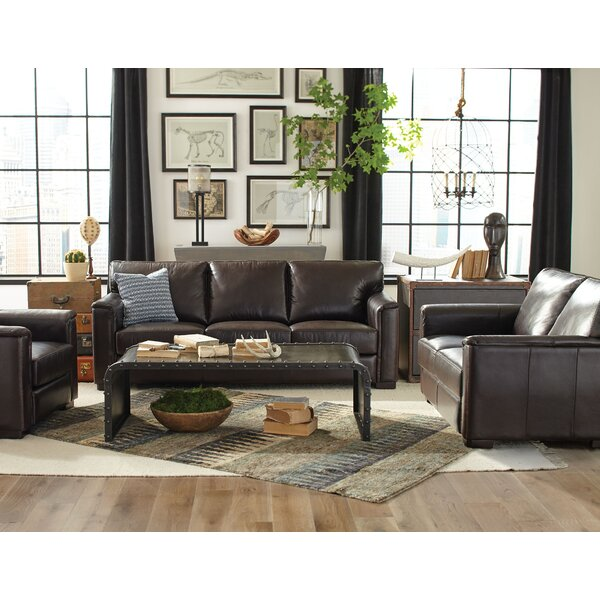 Giovanni Leather Configurable Living Room Set by Red Barrel Studio