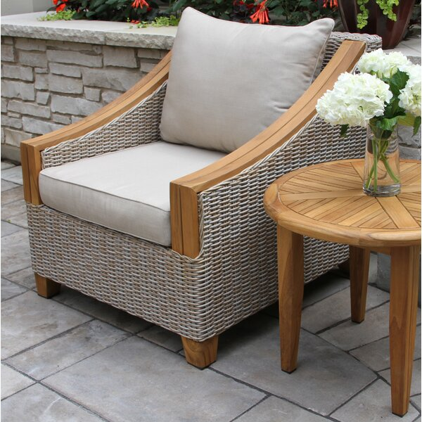 Asta Wicker & Teak Arm Chair by Birch Lane™