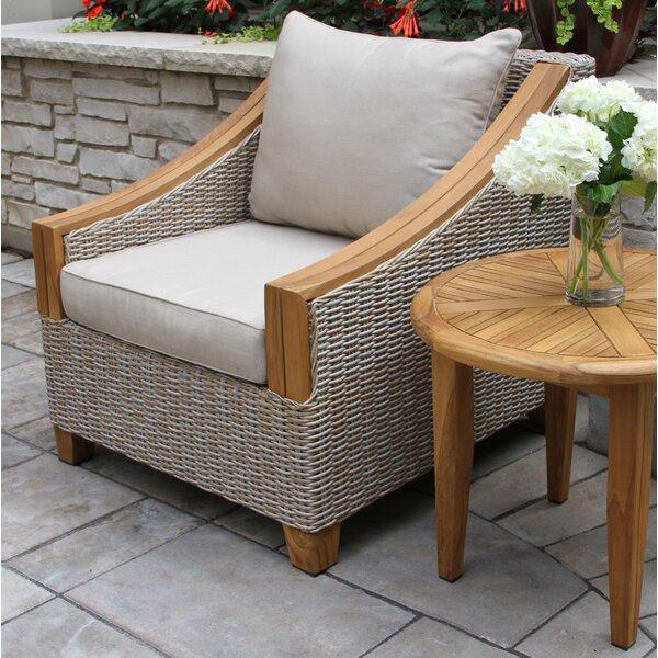 Asta Wicker & Teak Arm Chair by Birch Lane™