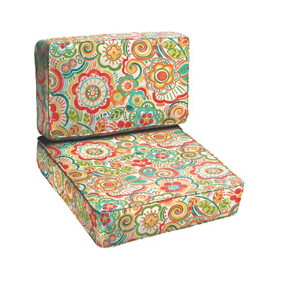 Annette 2 Piece Outdoor Chair Cushion Set by Latitude Run