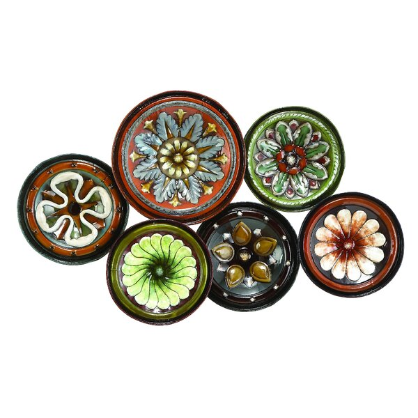 Floral Plate Wall Décor by World Menagerie