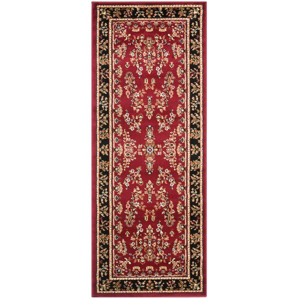 Ottis Lianne Red Area Rug by Charlton Home