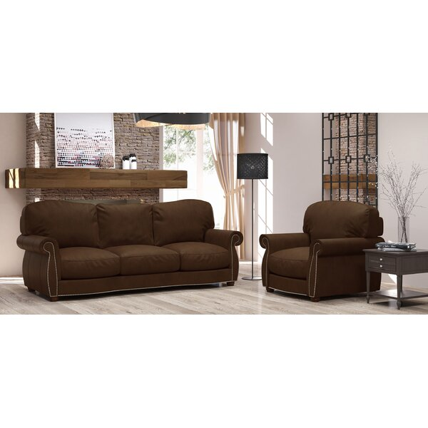 Tiffany 2 Piece Leather Living Room Set by Westland and Birch