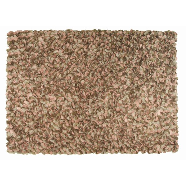 Nema Hand-Hooked Brown Area Rug by Threadbind