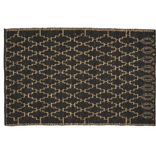 One-of-a-Kind Sthilaire Hand-Knotted 5'1 x 8' Charcoal Area Rug by Ivy Bronx