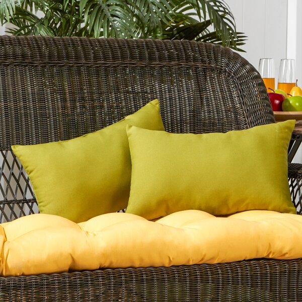 Sarver Outdoor Lumbar Pillow (Set of 2) by Andover Mills