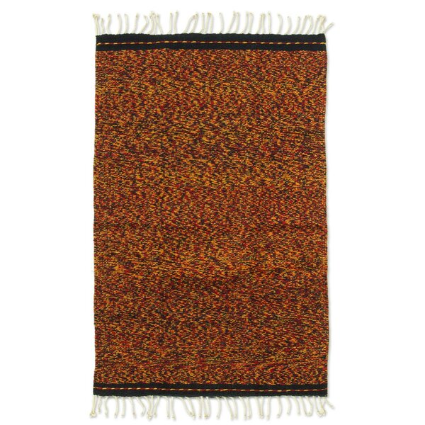 Weare Hand Woven Red/Yellow Area Rug by Millwood Pines