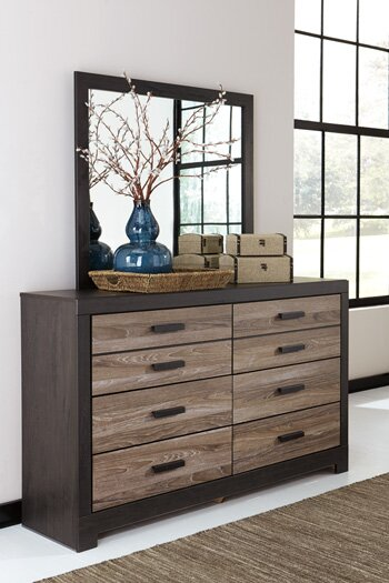 Brockett 6 Drawer Double Dresser with Mirror by Latitude Run