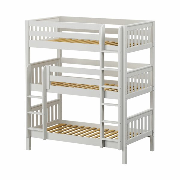 Spindler Twin Over Twin Triple Bunk Bed by Harriet Bee
