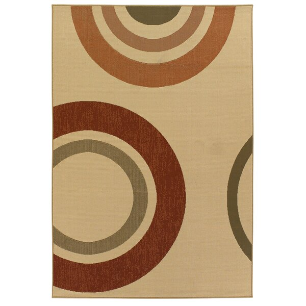 Brynie Circles Indoor/Outdoor Area Rug by Latitude Run