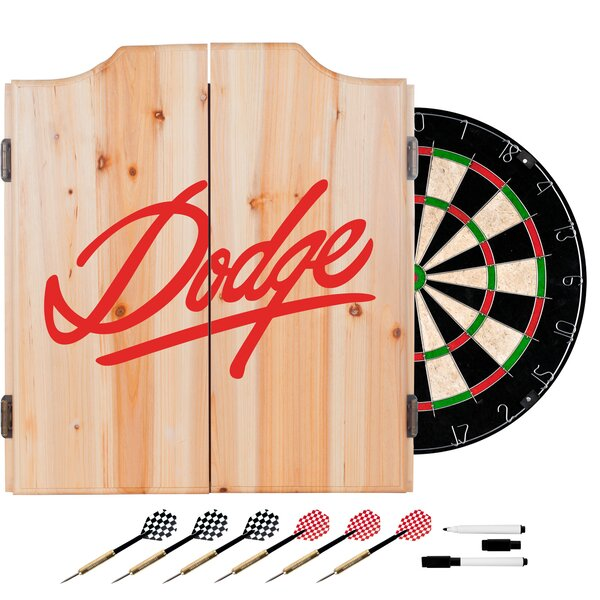 Dodge Signature Dartboard and Cabinet Set by Trademark Global