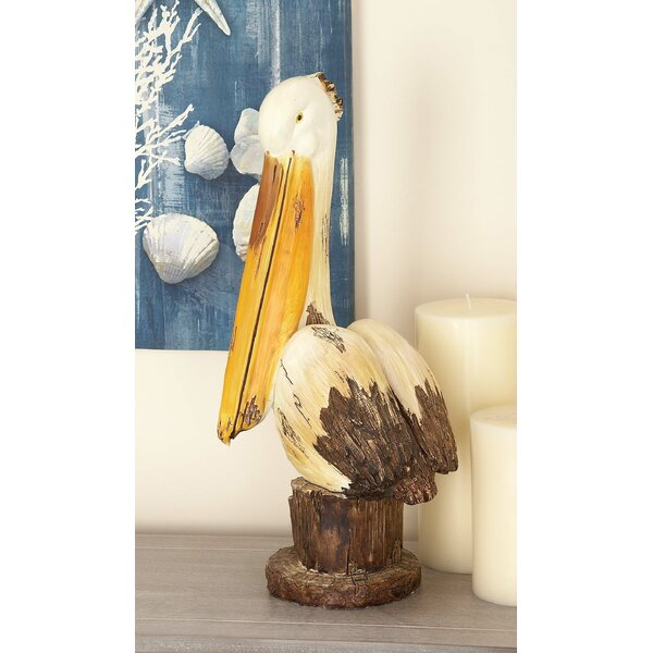 Filton Coastal Wood Pelican Sculpture by Breakwater Bay