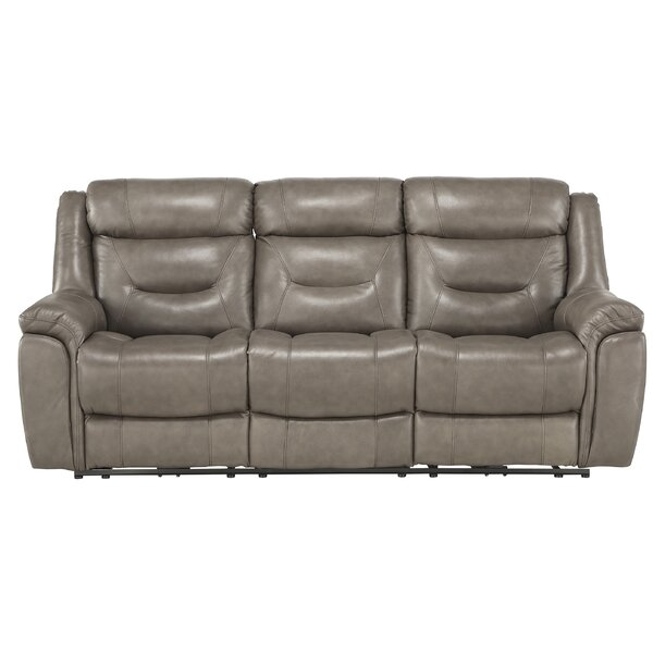 Robitaille Leather Reclining Rolled Arms Sofa By Winston Porter