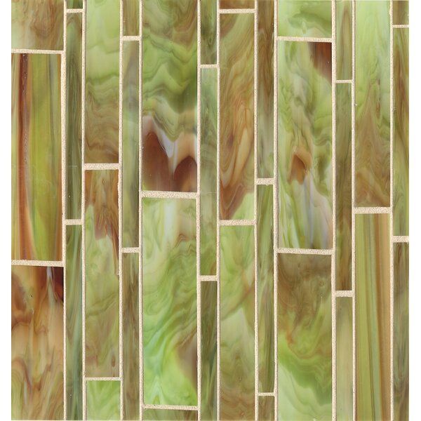 Kailua 11.4 x 11.6 Mosaic Linear Tile in Reed by Grayson Martin