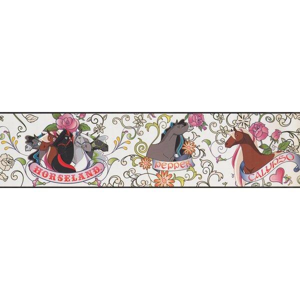Horseland Cartoon Colorful Wall Border by York Wallcoverings
