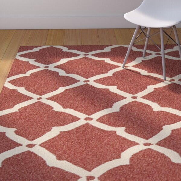 Oaknoll Hand-Tufted Red Indoor/Outdoor Area Rug by Breakwater Bay