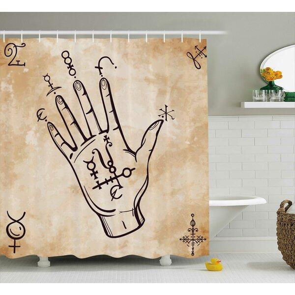 Carel Retro Spiritual Medieval Shower Curtain by Ebern Designs