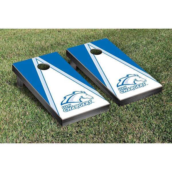 NCAA Triangle Wooden Cornhole Game Set by Victory Tailgate
