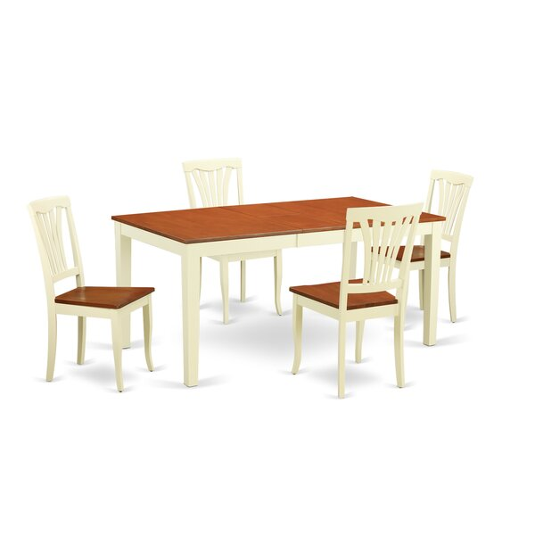 Napoli 5 Piece Dining Set by Wooden Importers