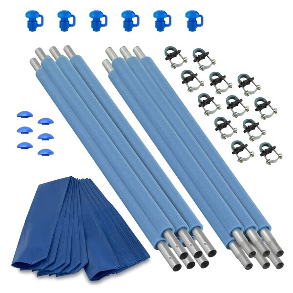 Trampoline Replacement Enclosure Poles & Hardware (Set of 6) by Upper Bounce