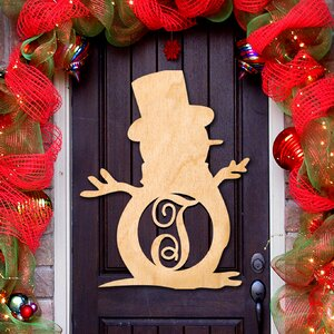 Snowman Decorative Holiday Sign