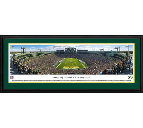 NFL Green Bay Packers - End Zone Framed Photographic Print by Blakeway Worldwide Panoramas, Inc