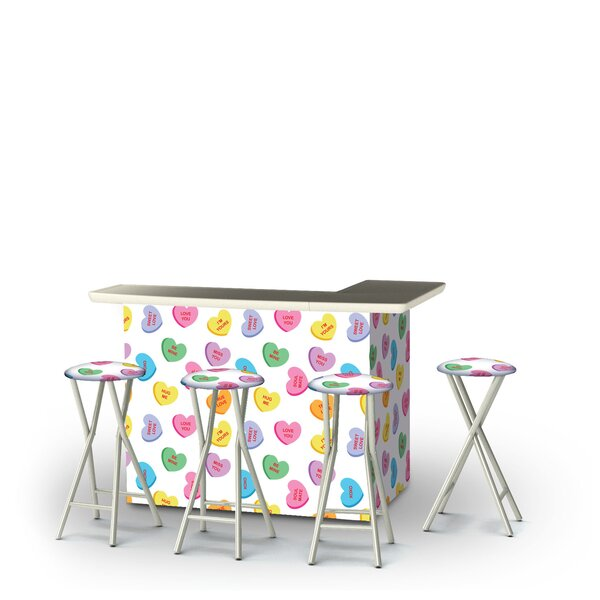 Wysong Valentines Heart Candy 5-Piece Bar Set by East Urban Home