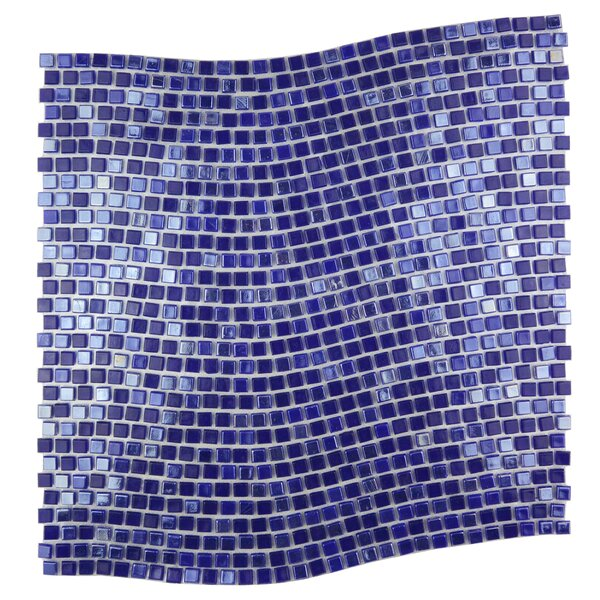 Galaxy Wavy 0.31 x 0.31 Glass Mosaic Tile in Purple by Abolos