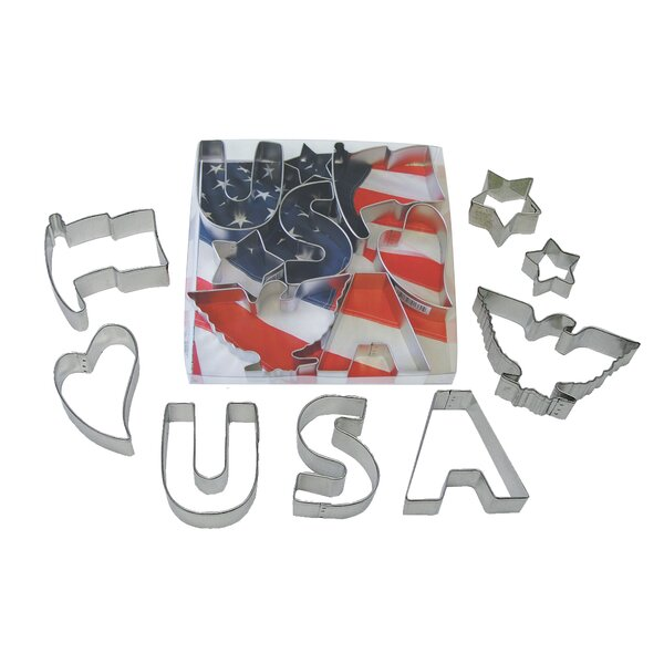 8 Piece USA Cookie Cutter Set by R & M International Corp.