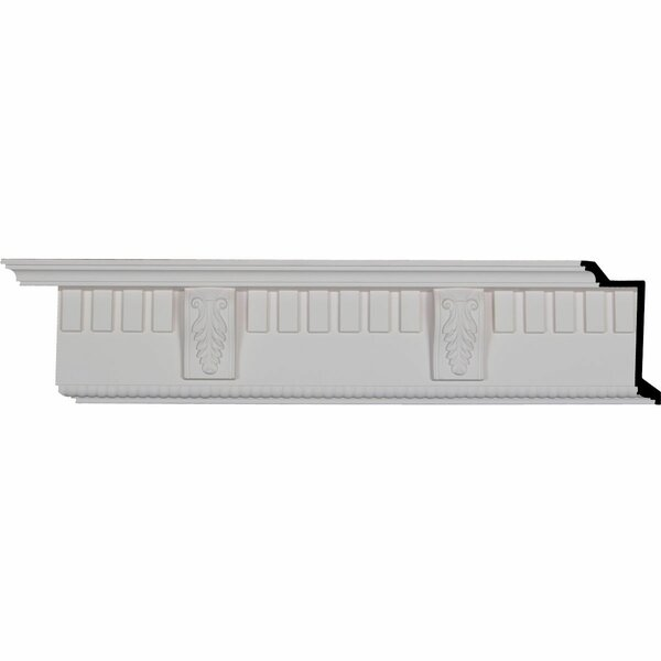 Dentil with Bead 5 3/4H x 95 3/4W x 3 7/8D Crown Molding by Ekena Millwork