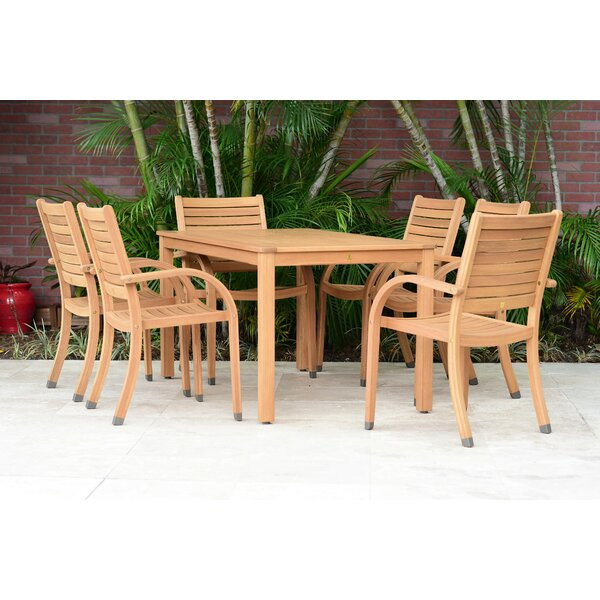 Jovanny 7 Piece Dining Set by Loon Peak