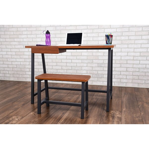 Gaspar Student Dorm Desk and Stool by Ebern Designs