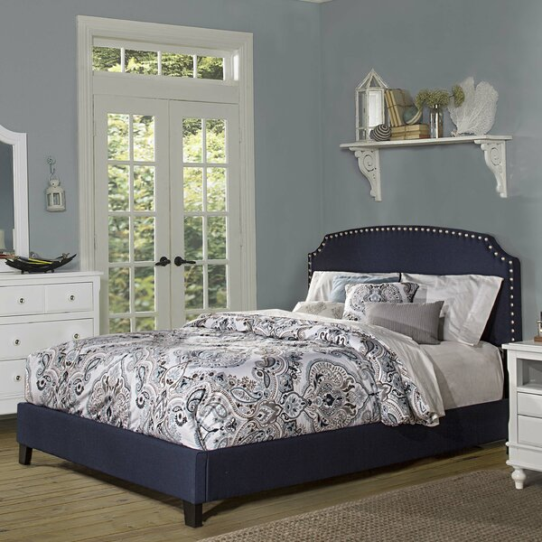 Stewart Upholstered Standard Bed by Breakwater Bay